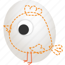 chicken, creative, drawing, egg, hatchery, idea, sketch icon