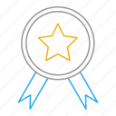 achievement, award, badge, favorite, medal, star, win icon