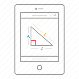 application, education, elearning, geometry, ipad, learning, tablet icon
