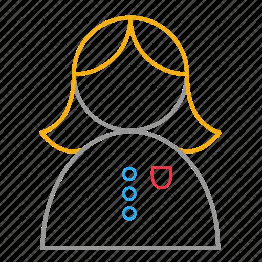 avatar, female, girl, student, user icon