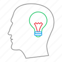 bulb, concept, creative, idea, illuminate, think, thinking icon