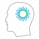 brain, cog, concept, mind setting, thinking, wheel icon