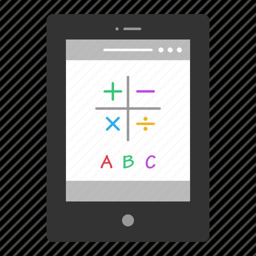 application, elearning, ipad, learning, math, mathematics icon