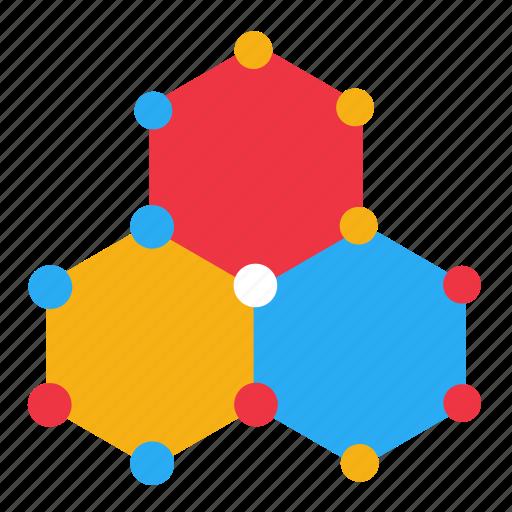 atom, bonding, chemistry, experiment, molecule, nucleus, science icon