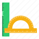 draw, drawing, geometry, graphic, instruments, rounder, scale icon