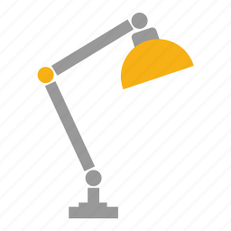 desk, learning, light, study, study lamp, table lamp icon