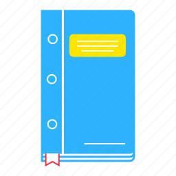 book, bookmark, education, learn, learning, study, textbook icon