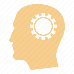brain, cog, concept, idea, think, thinking, wheel icon