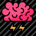 brain, brainstorm, creative, process icon