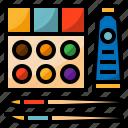 creative, paintbrush, palette, watercolor icon