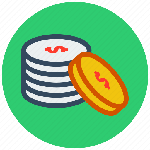 change, coin, currency, dollar, funding, money icon