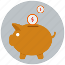 bank, banking, investment, money, piggy bank, profit, savings icon