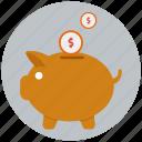 bank, banking, investment, money, piggy bank, profit, savings