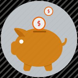bank, banking, investment, money, piggy bank, profit, savings icon