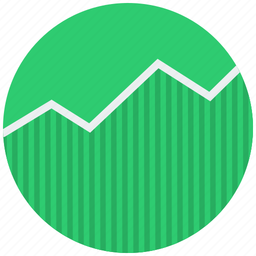 analytics, chart, finance, graph, stock market icon