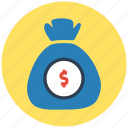 banking, currency, finance, loan, money, money bag, payment icon