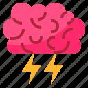 brain, creative, brainstorm, process icon