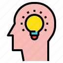brain, brainstorming, head, idea icon
