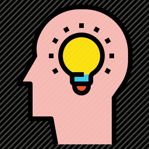 brain, brainstorming, head, idea icon