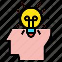 blub, creative, head, idea icon