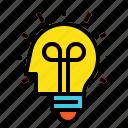 light, idea, blub, head