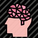 brain, creative, digital, head, idea icon