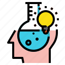 blub, creative, head, idea, science icon