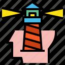 creative, head, lighthouse icon