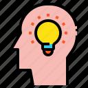 creative, head, idea icon