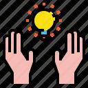 creative, hand icon