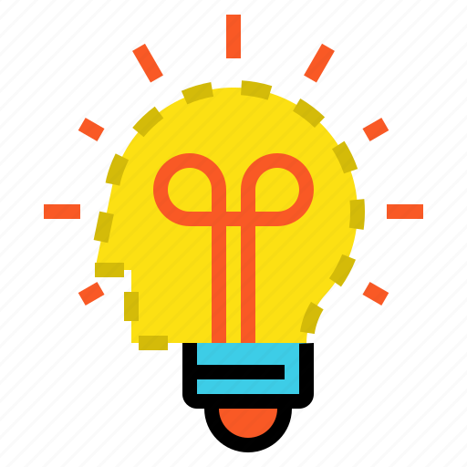 head, idea, light icon