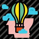 balloon, creative, idea icon
