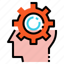creative, gear, idea icon