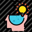 creative, idea, science icon