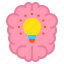 brain, brainstorming, bulb, education, idea icon