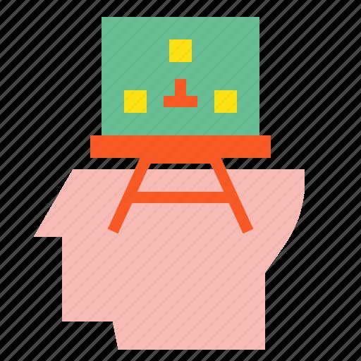 business, creative, head, idea, planing icon