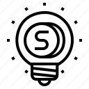 coin, idea, money icon