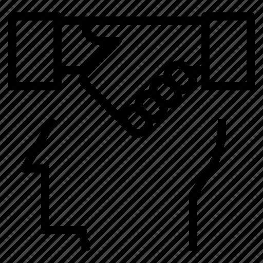handshake, idea, teamwork icon