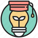 bulb, creative, education, idea, innovative icon