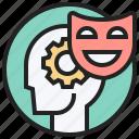 attitude, emotion, head, mask, psychology