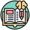 book, education, learning, library, study icon