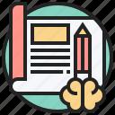 planning, prepare, scheme, strategy, writing icon