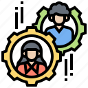 collaboration, communication, coworker, organization, team icon