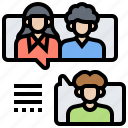 consult, contact, conversation, discussion, meeting icon