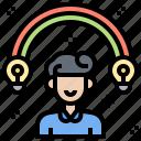 creativity, idea, innovation, inspiration, learning icon