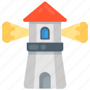 beacon, lighthouse, nautical tower, seamark, watchtower icon