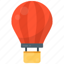 parachute balloon, air balloon, fire balloon, weather balloon, hot air balloon icon