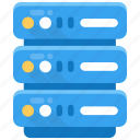 data backup, data management, database server, datacenter, server rack icon