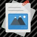 attached file, attached text file, document attach, file annex, file attachment icon