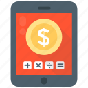 calculation, finance calculation, financial management, mobile banking, mobile calculator icon